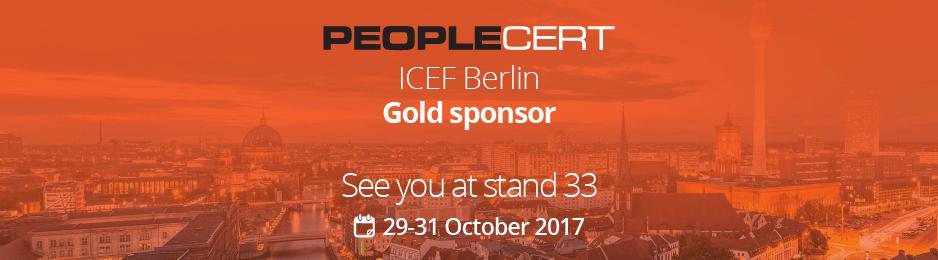 PeopleCert is a Gold Sponsor of the ICEF Berlin Workshop 2017